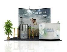 鹰牌展架为金夫人婚纱摄影制作展览展示、会议活动解决方案