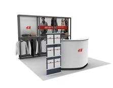 鹰牌展架为H·M服装制作品牌活动、广告促销解决方案