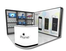 鹰牌展架为iPhone电子制作新品推广、品牌活动解决方案
