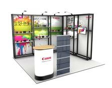 鹰牌展架为佳能制作的商品陈列、广告促销解决方案